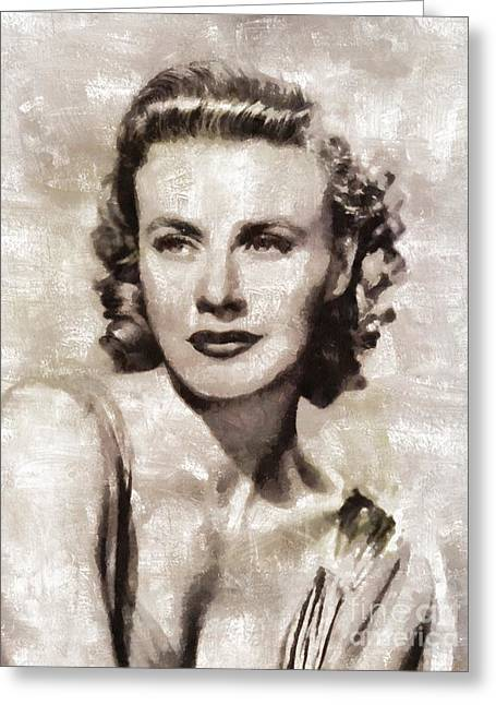 Ginger Rogers, Hollywood Legend By Mary Bassett Greeting Card by Mary Bassett