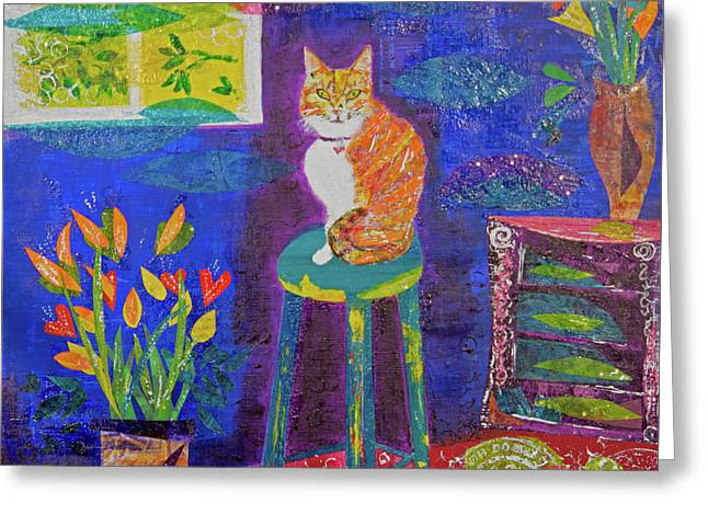 Ginger The Cat Greeting Card