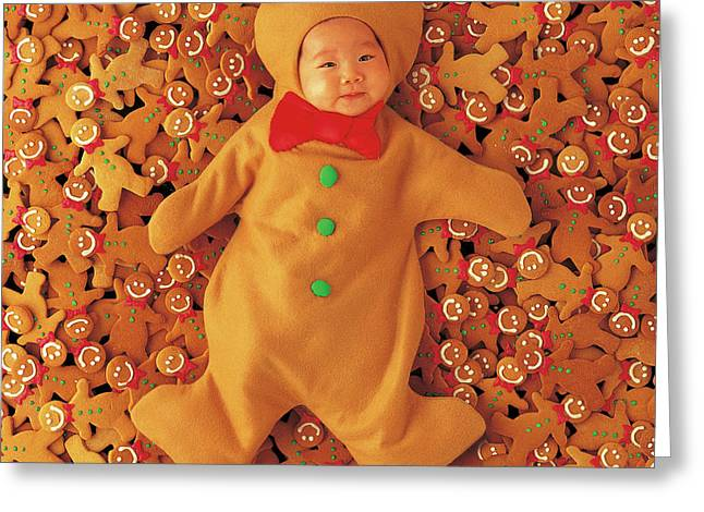 Gingerbread Baby Greeting Card by Anne Geddes