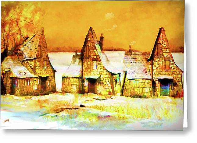 Gingerbread Cottages Greeting Card