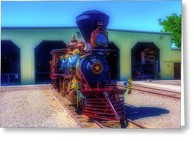 Gingerbread Locomotive Greeting Card