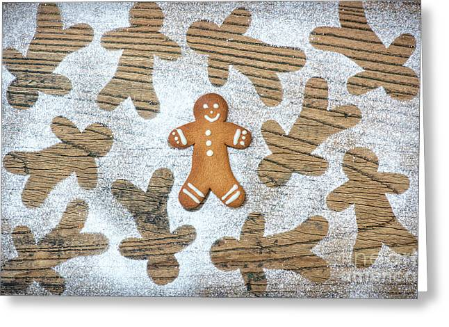 Gingerbread Greeting Card by Tim Gainey