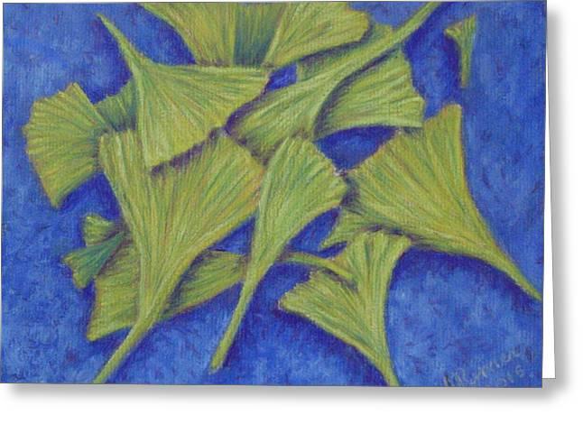 Gingko Flurry 2 Greeting Card by Joann Renner