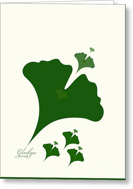 Ginkgo M1 Greeting Card by Johannes Murat