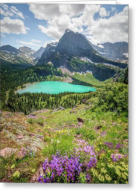 Ginnell Lake Overlook / Glacier National Park  Greeting Card