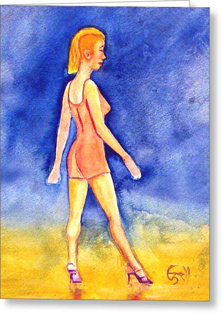 Ginny Greeting Card by T Ezell