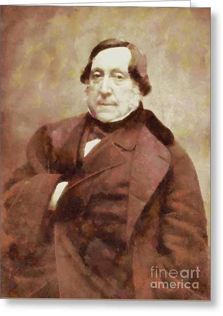 Gioacchino Rossini, Composer By Sarah Kirk Greeting Card