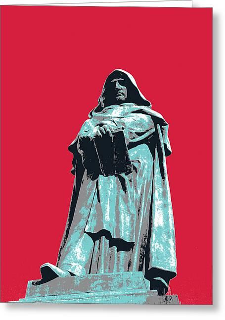 Giordano Bruno Greeting Card by Shay Culligan