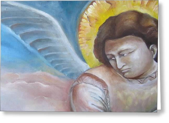 Giotto's Angel Of Epiphany Greeting Card by Maria Milazzo