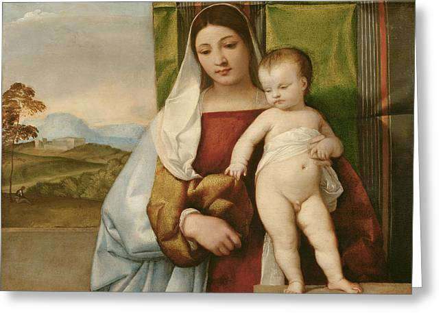 Gipsy Madonna Greeting Card by Titian