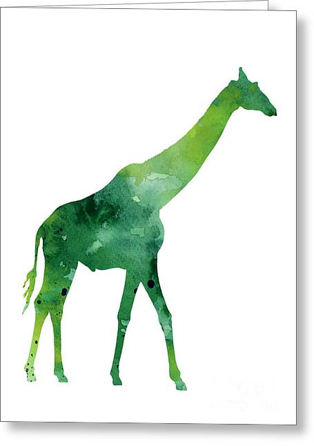 Giraffe African Animals Gift Idea Greeting Card