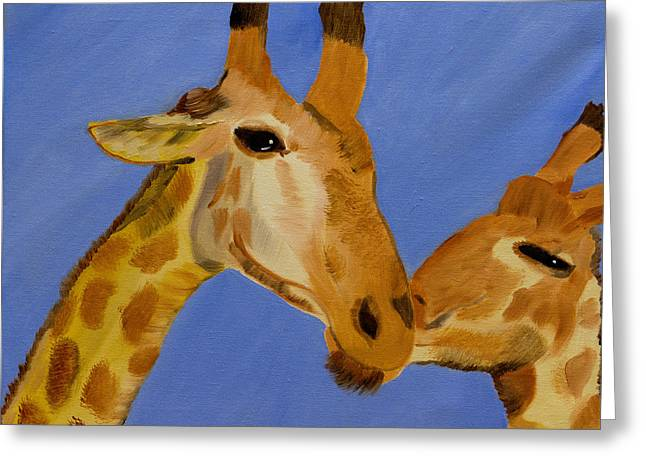 Giraffe Bonding Greeting Card
