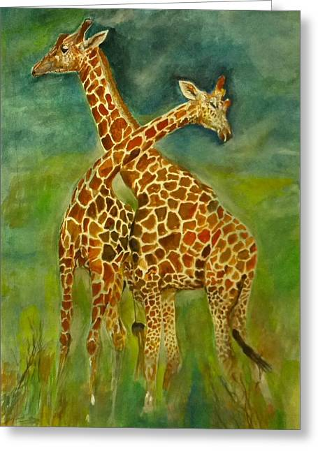 Lovely Giraffe . Greeting Card