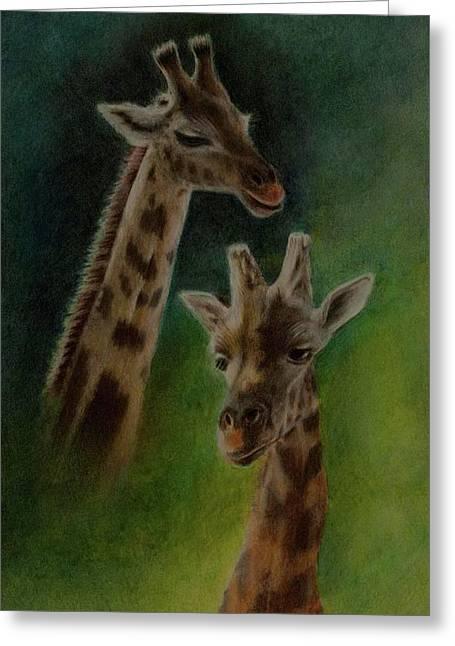 Giraffe Giraffe Greeting Card