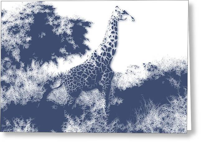 Giraffe Greeting Card by Joe Hamilton