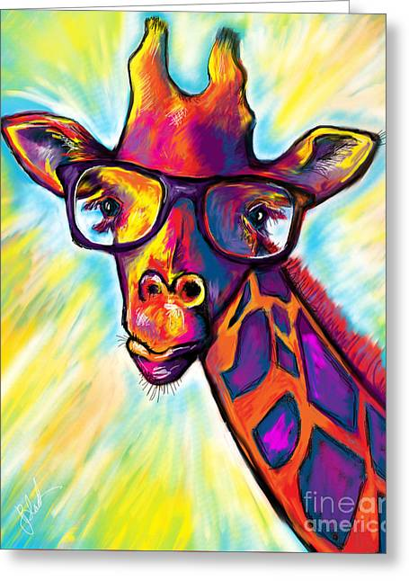 Giraffe Greeting Card by Julianne Black