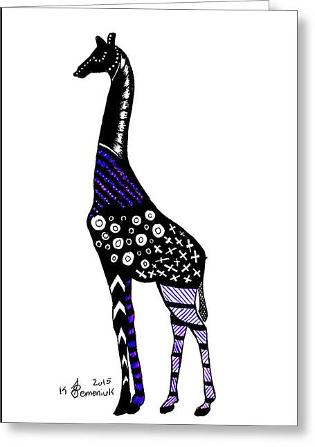 Giraffe Greeting Card by Kayleigh Semeniuk