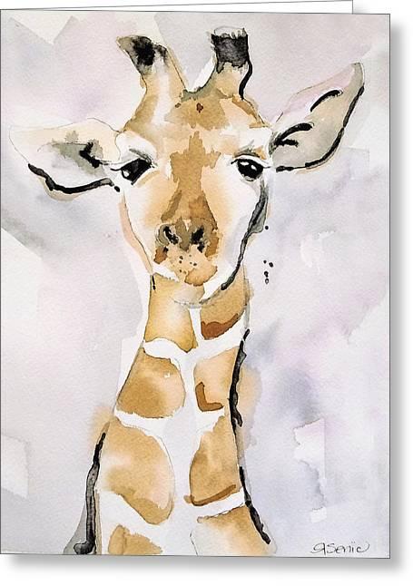 Giraffe Greeting Card by Roleen Senic