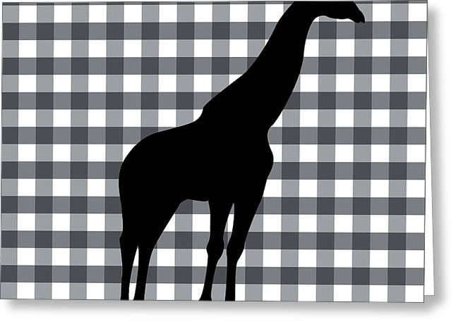Giraffe Silhouette Greeting Card