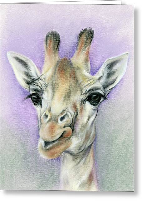 Giraffe With Beautiful Eyes Greeting Card
