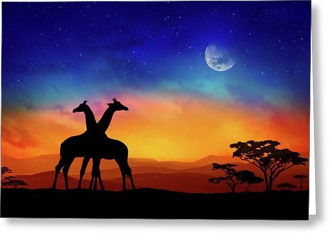 Giraffes Can Dance Greeting Card