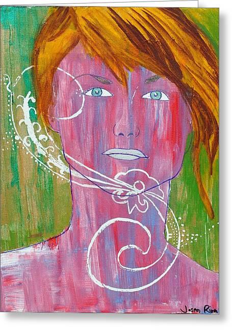 Girl 13 Greeting Card by Josean Rivera