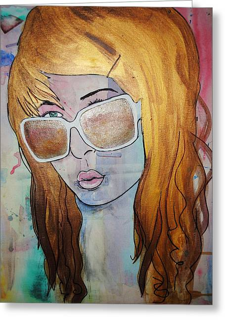 Girl 16 Greeting Card