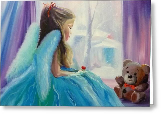 Girl Angel Greeting Card