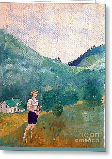 Girl At Murray Hollow Greeting Card by Fred Jinkins