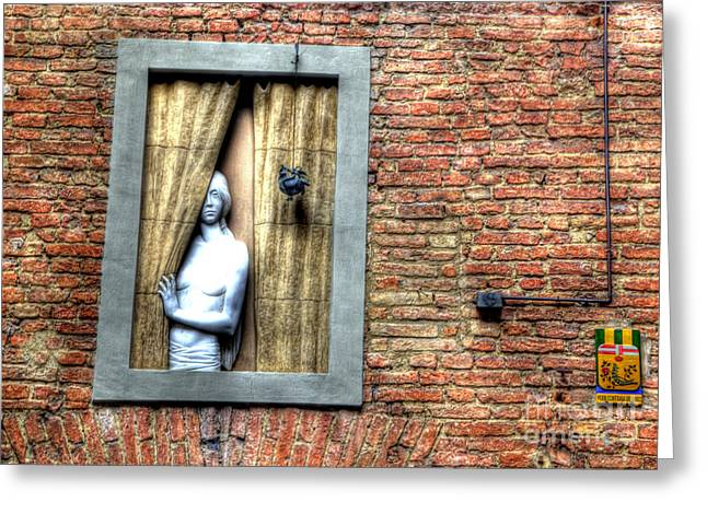Girl At The Window Greeting Card by Clint Hudson
