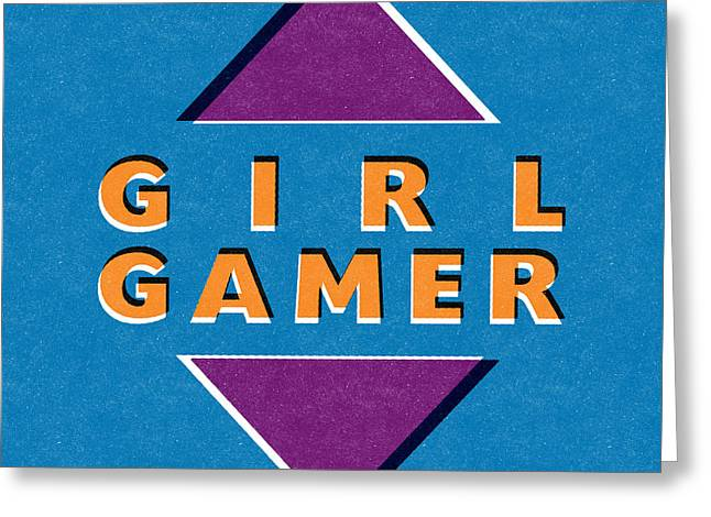 Girl Gamer Greeting Card by Linda Woods