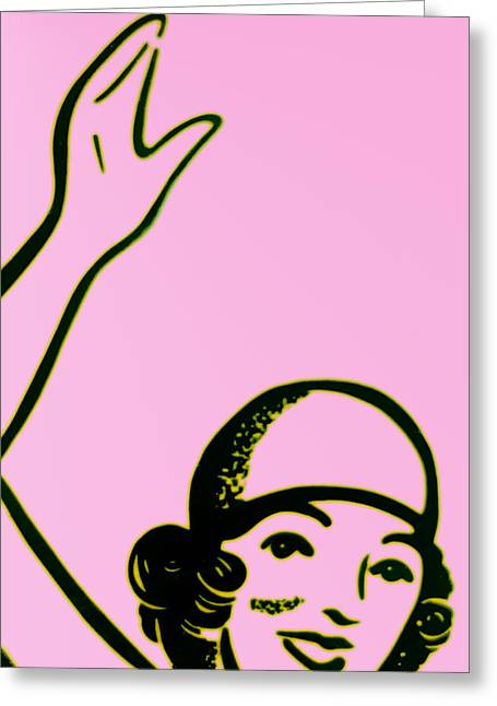 Girl In Pink Greeting Card by John Gusky