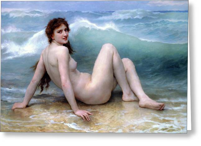 Girl In The Waves Impressionism Greeting Card