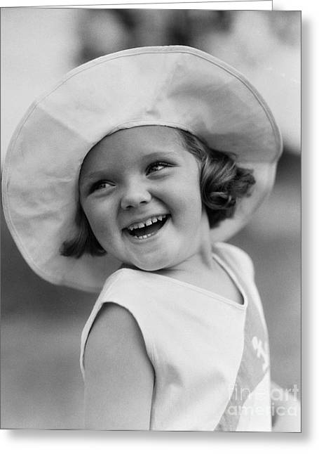 Girl In Wide Brimmed Hat, C.1930s Greeting Card by H. Armstrong Roberts/ClassicStock
