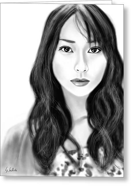 Girl No.183 Greeting Card by Yoshiyuki Uchida