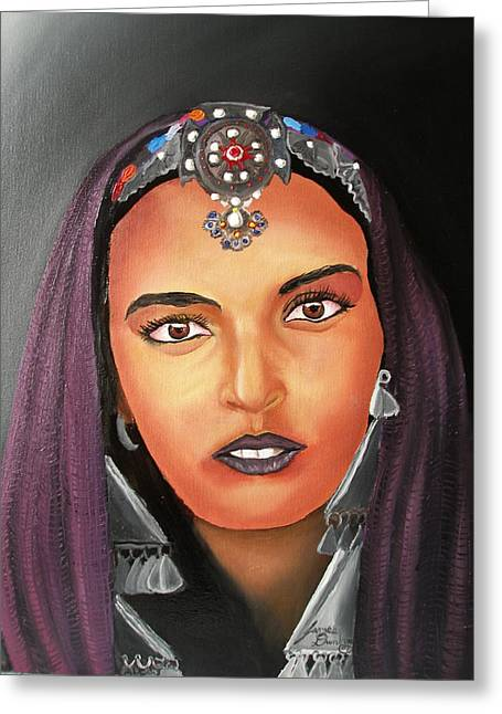 Girl Of Morocco Greeting Card by Portland Art Creations