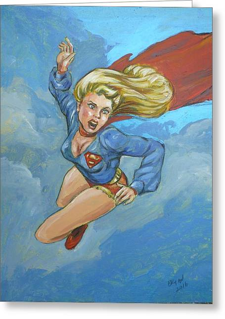 Girl Of Steel 1972 Greeting Card