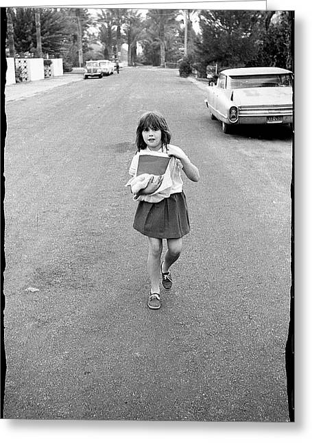 Girl On 13th Street, 1971 Greeting Card