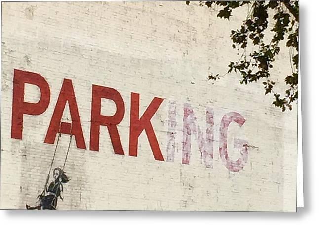 Banksy Park Greeting Card