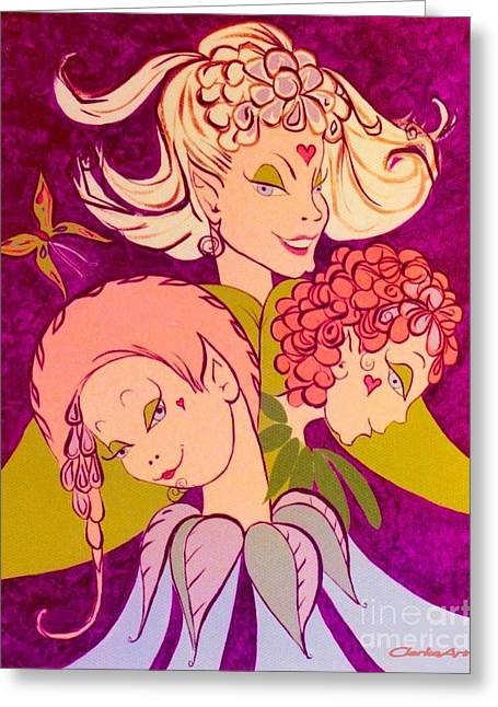 Girl Power Greeting Card by Jean Clarke
