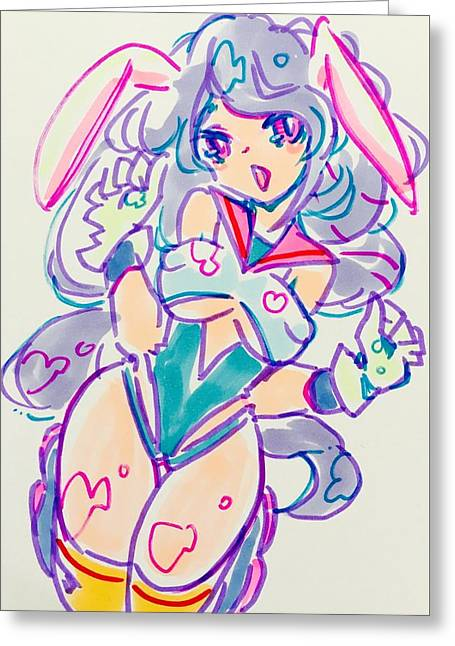 Girl02 Greeting Card