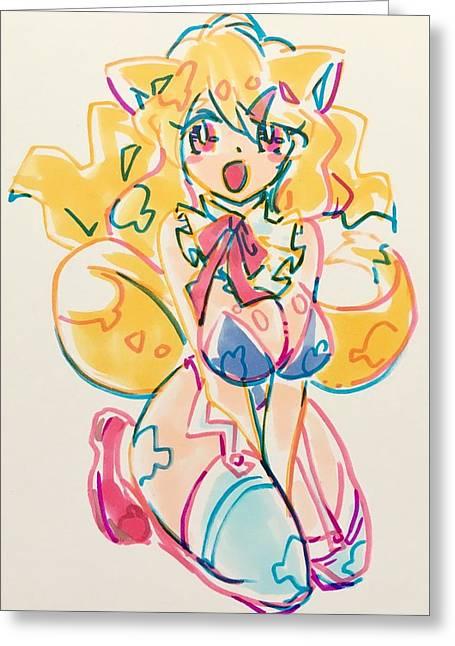 Girl03 Greeting Card