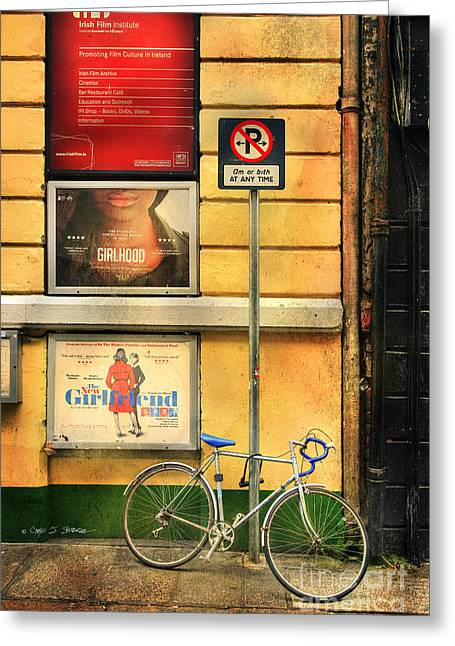 Girlfriend Bicycle Greeting Card by Craig J Satterlee