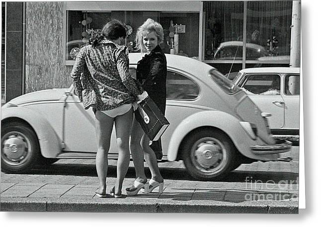 Greeting Card featuring the photograph Girls by Hans Janssen