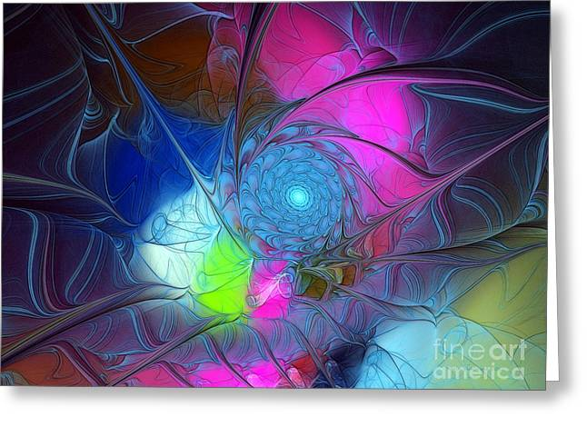 Greeting Card featuring the digital art Girls Love Pink by Karin Kuhlmann