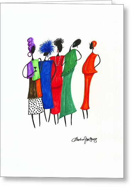 Girls Night Out Greeting Card by Bee Jay