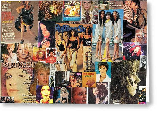 Girls Of Pop And Rock 1 Collage Greeting Card