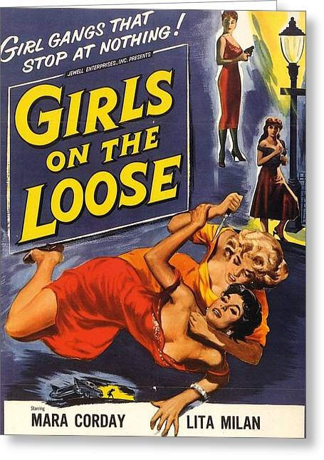 Girls On The Loose Greeting Card