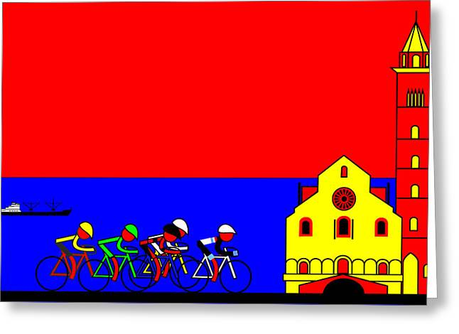 Giro In Trevi Greeting Card by Asbjorn Lonvig