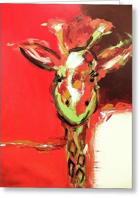 Giselle The Giraffe Greeting Card
